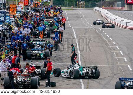 July 02, 2021 - Lexington, Ohio, USA: DALTON KELLETT (4) of Stouffville, Canada practices for the Honda Indy 200 at Mid-Ohio at Mid Ohio Sports Car Course in Lexington, Ohio.