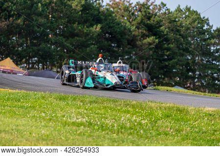 July 03, 2021 - Lexington, Ohio, USA: DALTON KELLETT (4) of Stouffville, Canada practices for the Honda Indy 200 at Mid-Ohio at Mid Ohio Sports Car Course in Lexington, Ohio.