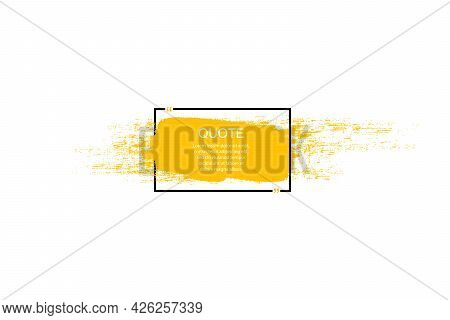 Quote Box Frame, Big Set. Quote Box Icon. Texting Quote Boxes. Blank Grunge Brush Background. Vector