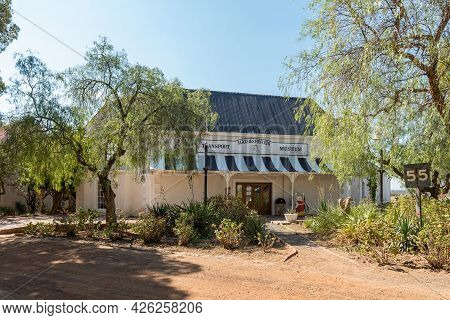 Matjiesfontein, South Africa - April 20, 2021: The Transport Museum In Matjiesfontein In The Western