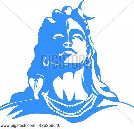 Sketch Of Hindu Famous God Lord Shiva Editable Outline Illustration