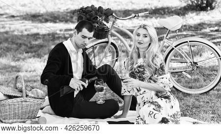 Melt Her Heart. Create Something For Her. Enjoying Their Perfect Date. Happy Loving Couple Relaxing
