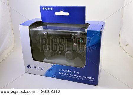 Manila, Ph - July 7 - Sony Playstation 4 Dual Shock Controller On July 7, 2021 In Manila, Philippine