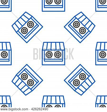 Line Shooting Gallery Icon Isolated Seamless Pattern On White Background. Shooting Range. Colorful O