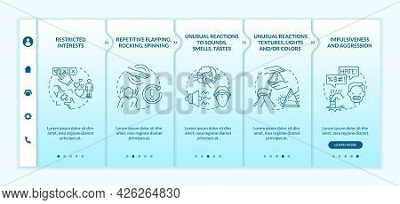 Asd Diagnosis Onboarding Vector Template. Responsive Mobile Website With Icons. Web Page Walkthrough