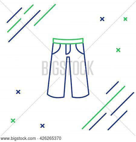 Line Pants Icon Isolated On White Background. Trousers Sign. Colorful Outline Concept. Vector