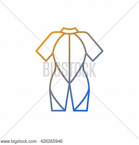 Wetsuit Gradient Linear Vector Icon. Special Suit For Spending Time In Water. Keep Warmth. Stretchy