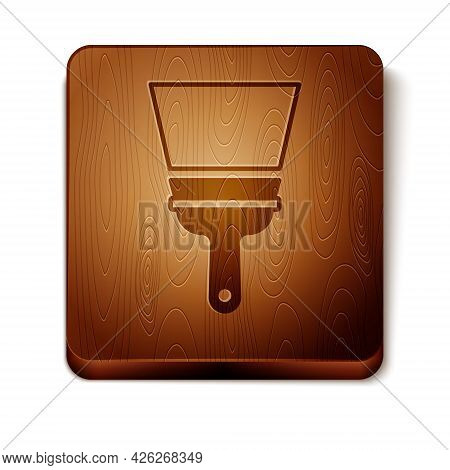 Brown Cleaning Service With Of Rubber Cleaner For Windows Icon Isolated On White Background. Squeege