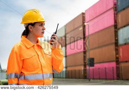 Warehouse Freight Delivery And Inventory Inspection. Freight Handling