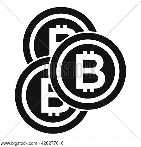Bitcoin Icon Simple Vector. Crypto Coin. Bitcoin Currency Bit