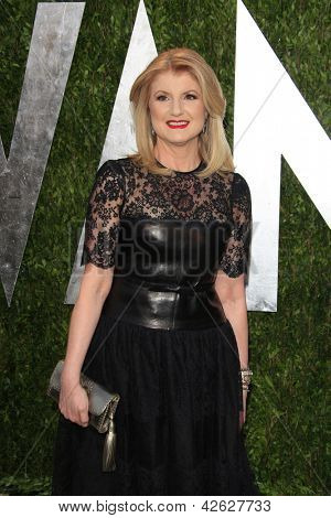WEST HOLLYWOOD, CA - FEB 24: Arianna Huffington at the Vanity Fair Oscar Party at Sunset Tower on February 24, 2013 in West Hollywood, California