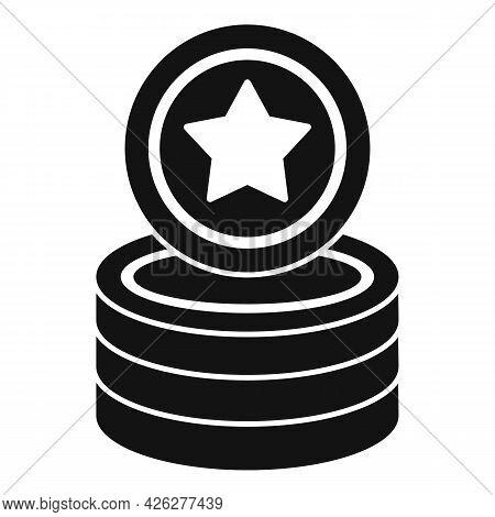 Star Token Icon Simple Vector. Bonus Reward. Loyalty Coin