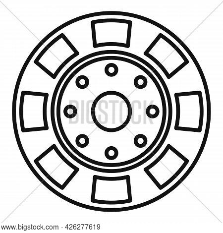 Casino Chip Icon Outline Vector. Poker Game. Bet Gamling Stack