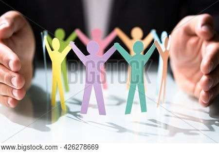 Diversity And Inclusion At Workplace. Lgbt Leadership And Insurance