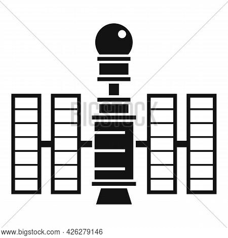 Future Space Station Icon Simple Vector. Planet Spaceship. Science Space Station