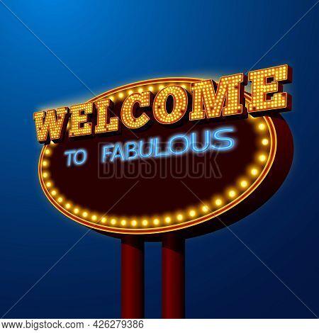 Entertainment Vegas Night Life Gambling Disco Dance Nightclubs  Advertising Shiny Lights Billboard P