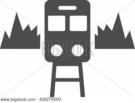 Vector Image Of A Train On The Rails.