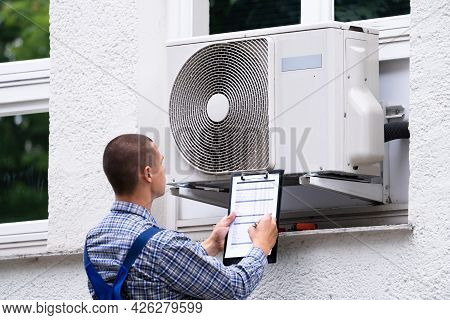 Air Condition Appliance Compressor Inspection Check Outside