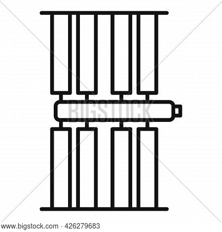 Exploration Space Station Icon Outline Vector. International Rocket. Mars Spaceship Station
