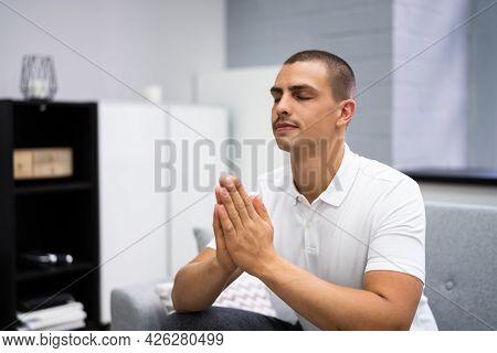 God Seeking Prayer Man In Living Room