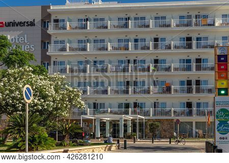 Colonia De Sant Jordi, Spain; July 02 2021: General View Of The Hotel Marques In The Mallorcan Town