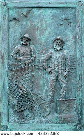 Plaque Commemorating Fishermen, Sheringham, North Norfolk Coast, East Anglia, Uk