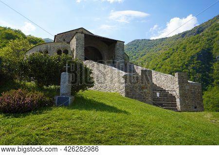 The Abbey Of San Pietro Al Monte Low Angle, Civate, Italy