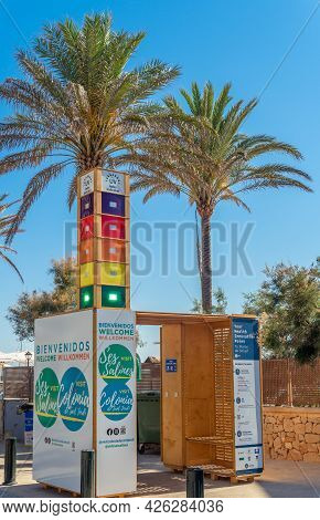 Colonia De Sant Jordi, Spain; July 02 2021: Health Innovation Point In The Mallorcan Town Of Colonia