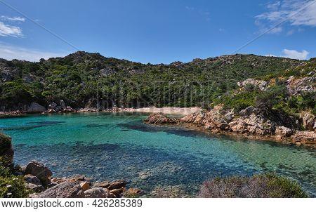 Cala Brigantina Beach, Little Cove In Caprera Island, Sardinia