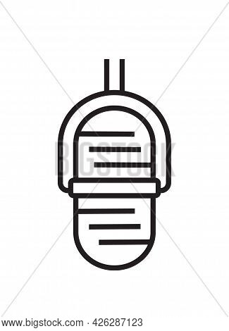 Microphone Icon Vector In Thin Line Style. Voice Over Sign. Microphone Symbol For Audio Podcast Broa