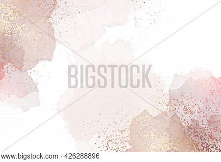 Beige Quartz Geode Vector Design Watercolor Frame