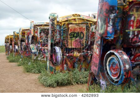 Buried Cars At Cadillac Ranch