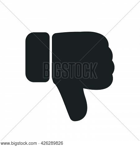 Dislike Icon Hand Thumb Down Vector Illustration. Sign Vote Button Dislike Communication Design. Net