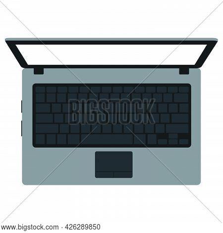 Laptop Computer Technology Vector Illustration Design Equipment Screen. Notebook Computer Modern Pc