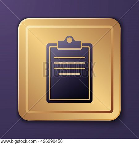 Purple Clipboard With Checklist Icon Isolated On Purple Background. Control List Symbol. Survey Poll