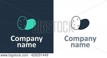 Logotype Potato Icon Isolated Logotype Background. Logo Design Template Element. Vector