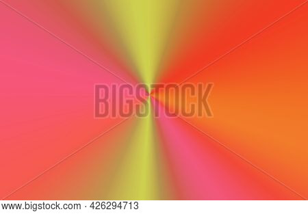 Futuristic Gradient Gold And Pink Ray For Abstract Background, Illustration