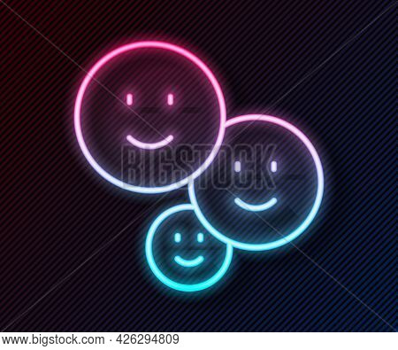 Glowing Neon Line Happy Friendship Day Icon Isolated On Black Background. Everlasting Friendship Con