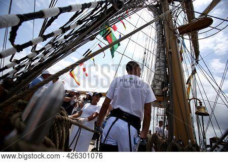 White Swan Ship Of The Brazilian Navy