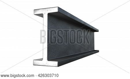 H-beam Rolled Metal - Isolated Digital Industrial 3d Illustration