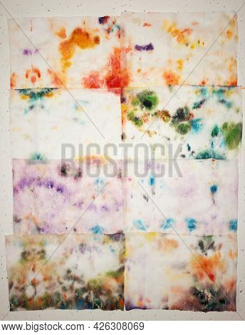 Own Art Work Handmade Cotton And Aquarelle Impressionism