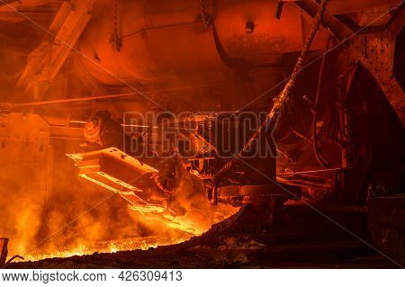 Blast Furnace After Cast Iron Tapping. Equipment And Mechanisms.