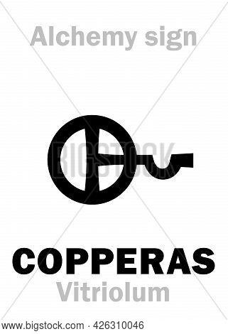 Alchemy Alphabet: Copperas (couperose) / Vitriol (vitriolum < Vitrum