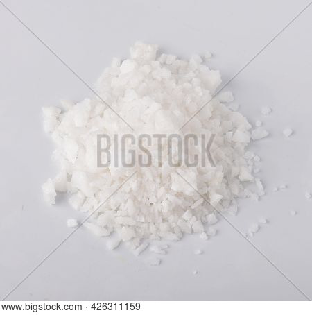 Top View Of Salt Isolated On White Background