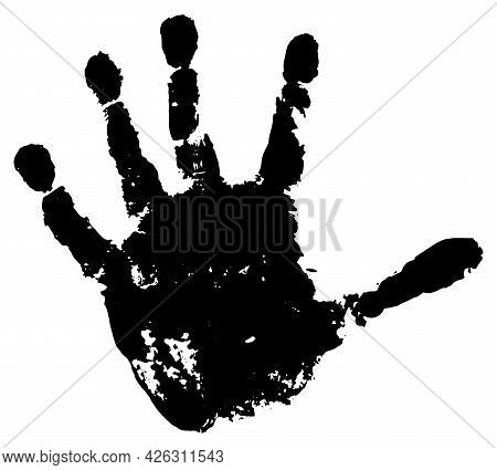 Handprint Of Palm Of Child, Isolated. Vector Illustration.