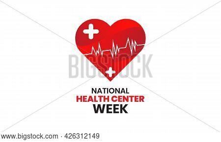 National Health Center Week Vector Banner Template Observed On August. Raising Awareness Accomplishm