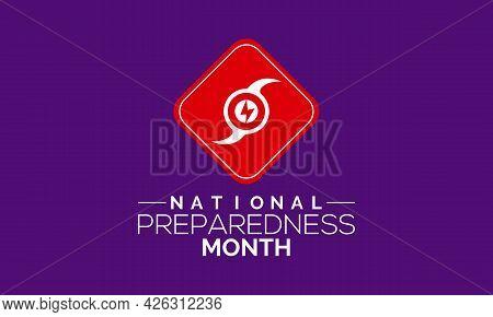 National Preparedness Month (npm) Vector Banner, Poster, Card, Background Design. Observed On Septem