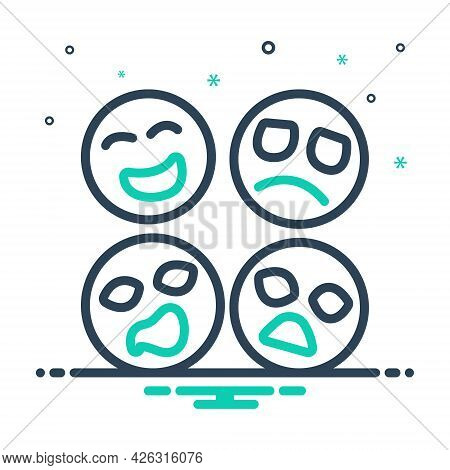 Mix Icon For Emotion Feeling Sense Affection Attachment Expression Emoji Character