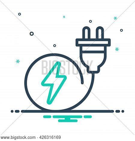 Mix Icon For Plug Switch-plug Electric Socket
