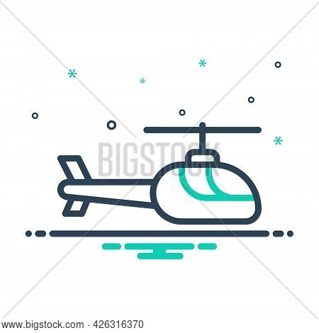 Mix Icon For Helicopter Chopper Transportation Rescue Aircraft Propeller